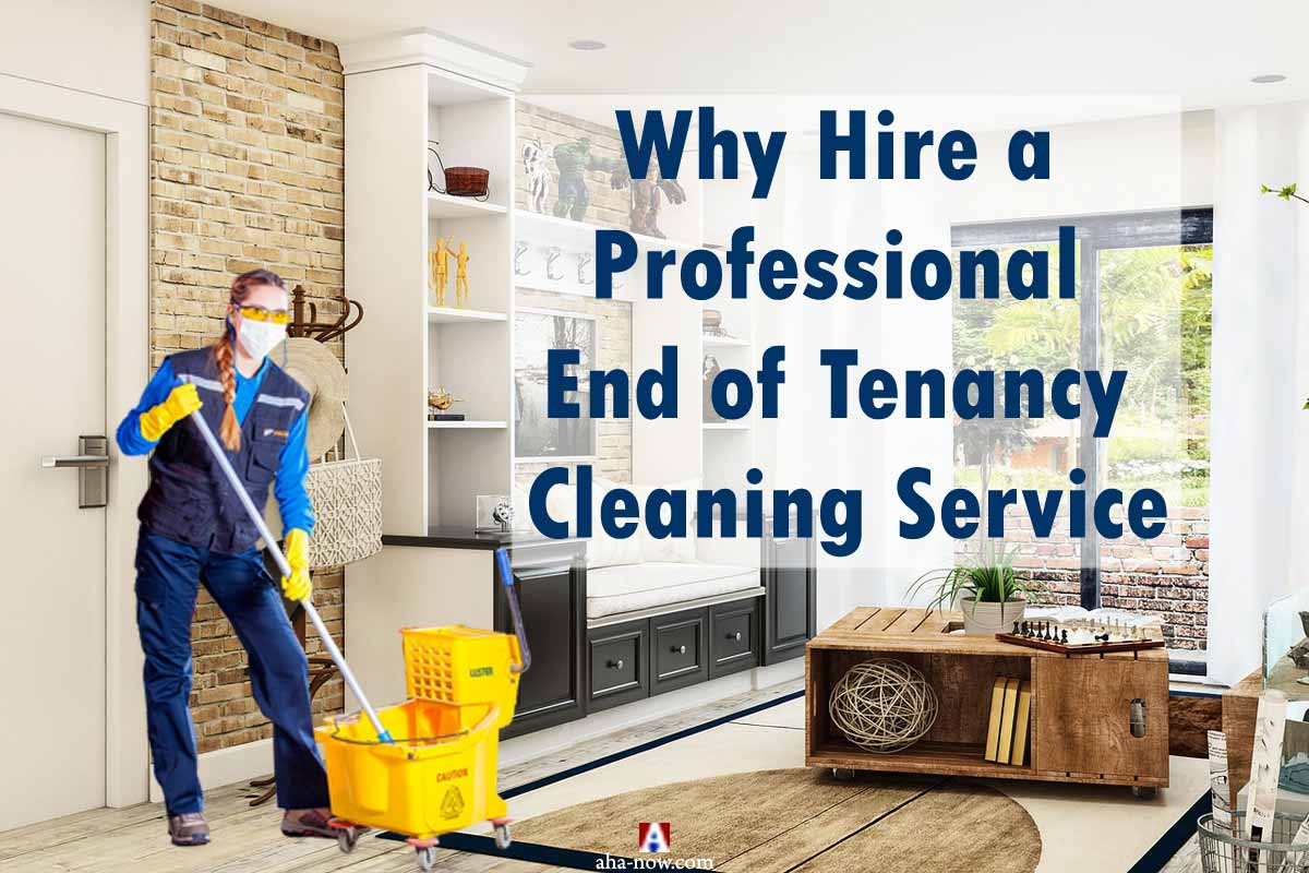 A professional cleaner performing end of tenancy cleaning service at a house