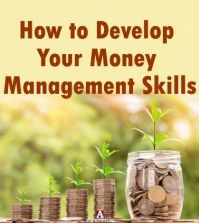 growing heaps of coins to depict developing money management skills