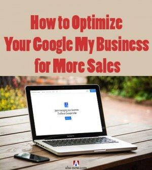 Laptop on table with Google My Business site open for optimization