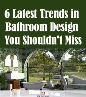 New trend of bathroom design with open spaces and wallpaper