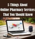 Ordering medicine on laptop through online pharmacy services