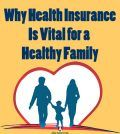 family covered by heart shaped health insurance