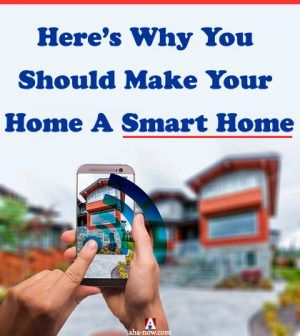 A person using mobile app to control a smart home