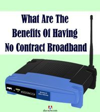 Modem of a no contract broadband