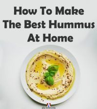 A plate full of hummus and recipe to make it at home