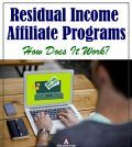 Man working on affiliate programs on laptop to earn residual income