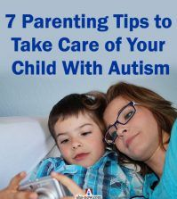 Autism child with mother taking care as per parenting tips