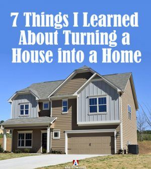 A new house to turn into a home