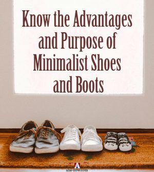 Three pairs of minimalist shoes and boots
