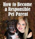 A woman with her pet dog wanting to become a responsible pet parent