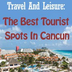 A tourist spot near the beach in Cancun