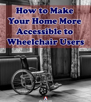 Wheelchair at a handicap accessible home