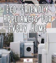 Eco-friendly appliances washing machine and refrigerator