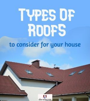 House with different types of roofs