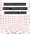 English letters in background with text understanding basic typography designing rules highlighted in foreground