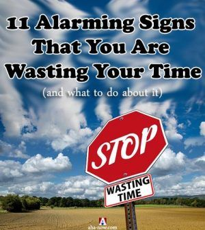 Stop wasting time sign board